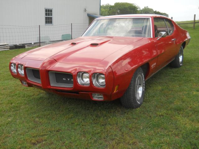 1970 Pontiac GTO 455 HO 4 Speed Red/Red PHS Documented Survivor