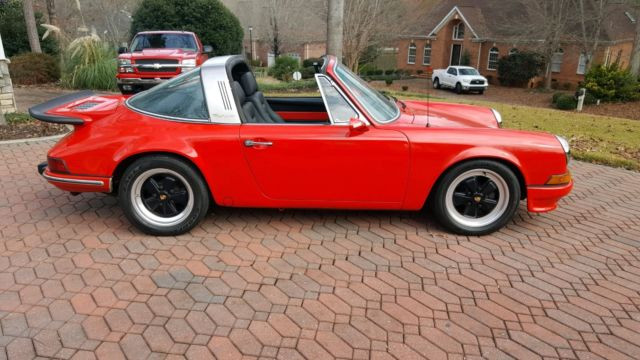 1970 Red Porsche 911 Targa with Black interior