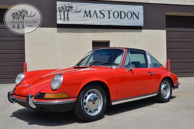 1970 red 911 911t targa sports car for sale photos. Black Bedroom Furniture Sets. Home Design Ideas