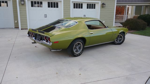 1970 Green Chevrolet Camaro Coupe with Tan interior