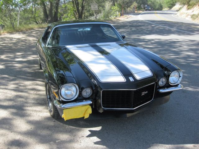 1970 Rs Z 28 Camaro Black White Stripes 4spd For Sale