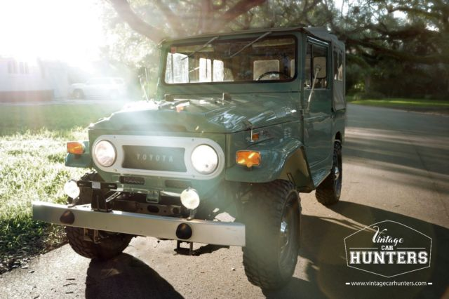 1970 Green Toyota Land Cruiser with Black interior