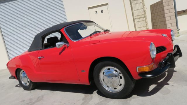 1970 Volkswagen Karmann Ghia CONVERTIBLE 1600 RARE AUTO STICK! NEW PAINT!