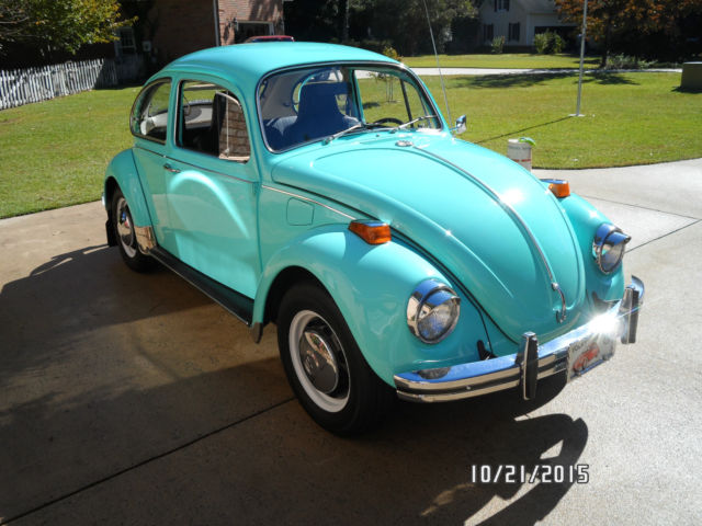 1970 VW Beetle, Rare Automatic, Seafoam Green in very good ...