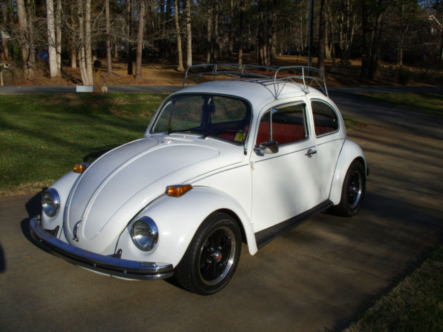 Vw Standard Beetle Cc Engine White Exterior Red Leather Interior