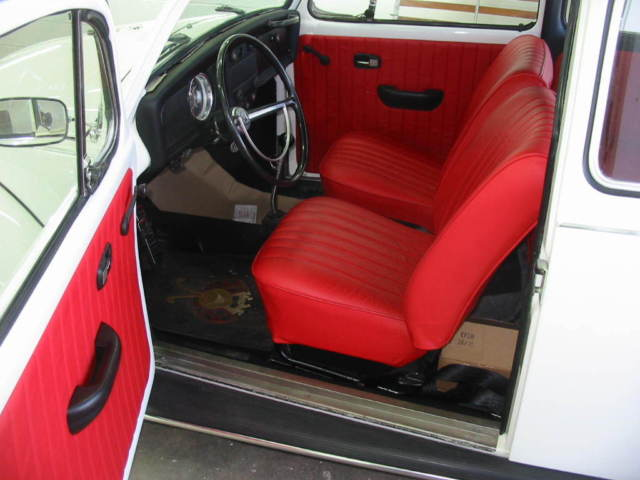 vw standard beetle cc engine white exterior red leather interior  sale
