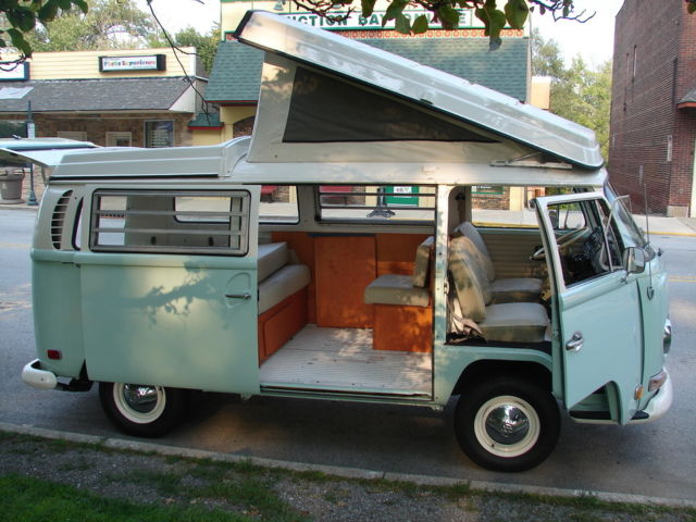 1970 VW Westfalia Campmobile Van Bus Camper Pop Up Roof Vanagon NW