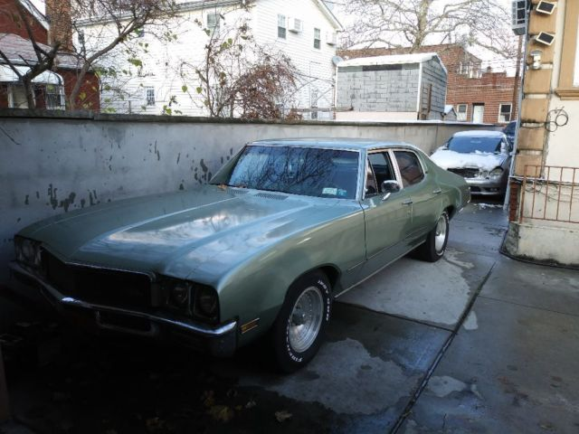 1971 Green Buick Skylark Cab & Chassis with Green interior