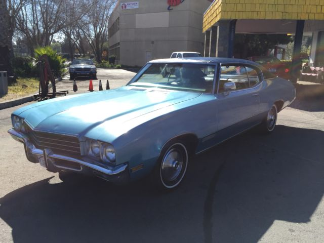 1971 Grey and black Buick Skylark coupe Coupe with Black interior