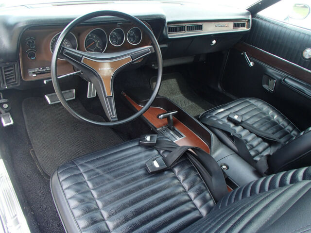 1971 White Dodge Charger R/T with Black interior