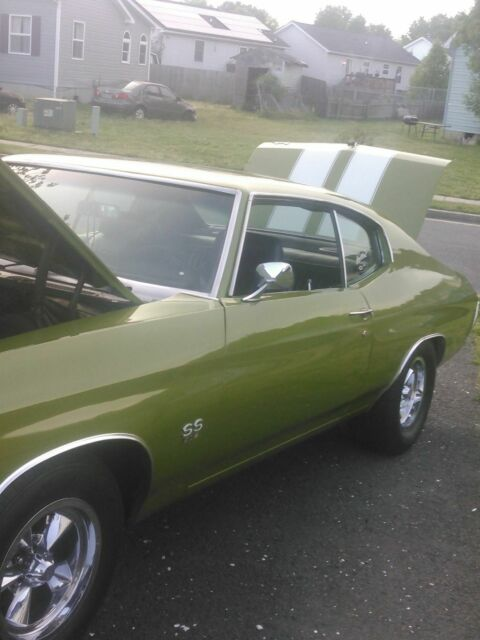 1971 P43 Green Chevrolet Chevelle SS Coupe with Green interior