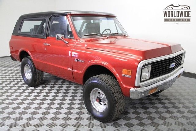 1971 Chevrolet Blazer Two Top Convertible. V8. Restored!