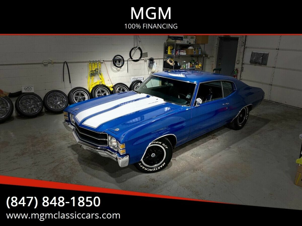 1971 Chevrolet Chevelle BUILT 454 TH400 12B BUCKETS CONSOLE