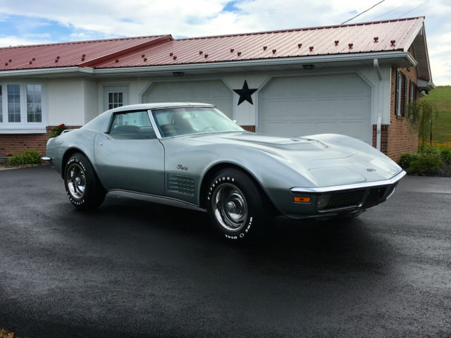 1971 Chevrolet Corvette Rare Silver/Blue LT1 Survivor Orig Window Sticker