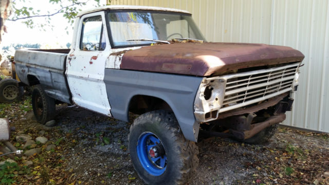 Ford F250 8 Foot Bed For Sale >> 1971 Ford F-100 with 69 Grille on F-250 4x4 Highboy Chassis 4wd Hiboy for sale: photos ...