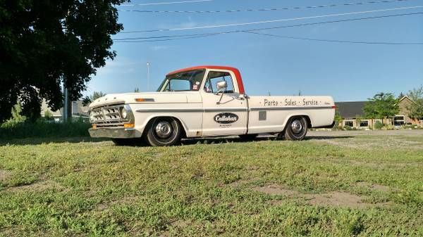 1971 Ford F 250 Pickup Lowered Camper Canopy For
