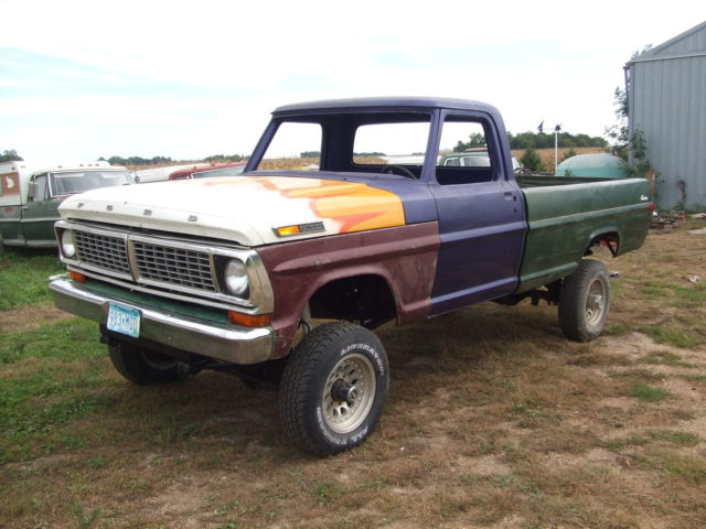 1971 ford f250 highboy truck with rare 1 ton axels for sale photos technical specifications. Black Bedroom Furniture Sets. Home Design Ideas