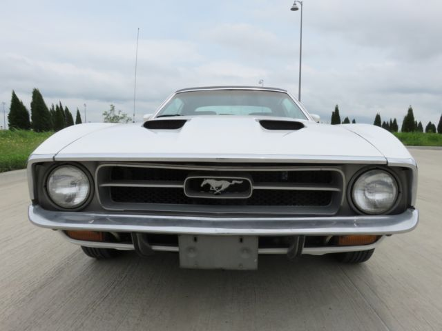 1971 White Ford Mustang 351-Auto Coupe with Black interior