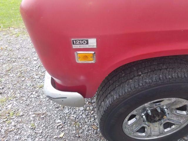 1971 Red International Harvester 1210 Standard Cab Pickup with Red interior