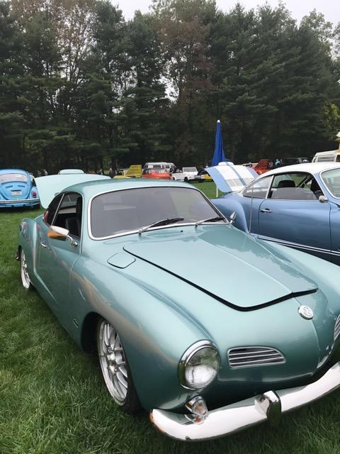 1971 Blue Volkswagen Karmann Ghia CarFast Coupe with Black interior