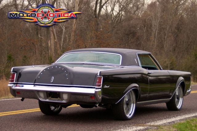 1971 Lincoln Continental Black Mark Lll Black Exterior 460cid V8 Wire Wheels For Sale Photos