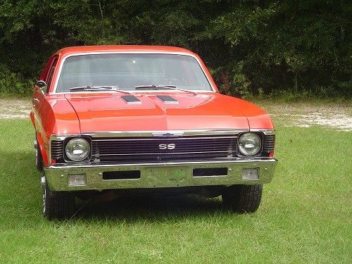 1971 Red Chevrolet Nova Super Sport Coupe with Black interior