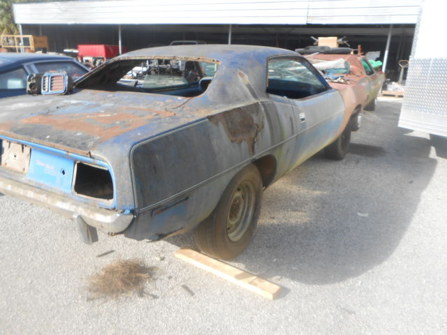 1971 PLYMOUTH BARRACUDA 318 3 SPEED (340 CUDA ) NICE PROJECT