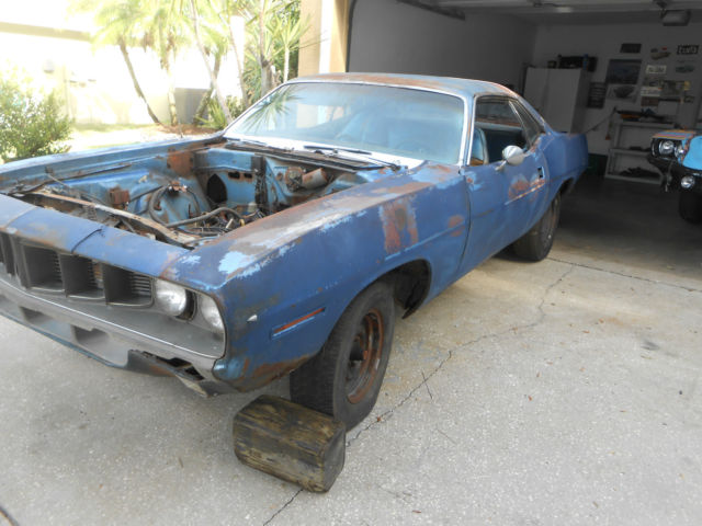 1971 PLYMOUTH BARRACUDA FACT 318 AC BARN FIND for sale