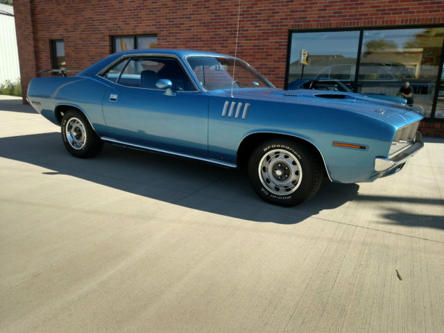 1971 Plymouth Cuda 383 B5 Blue Auto Mopar Rally Wheels For