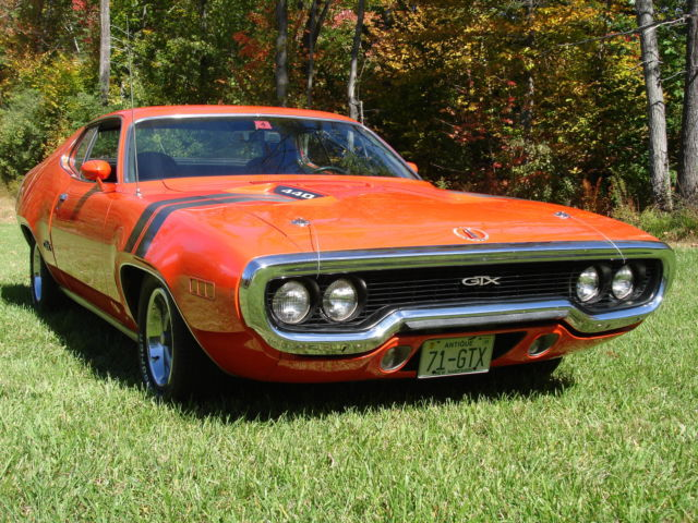 1971 Plymouth Gtx 440 Number S Matching Muscle Car For
