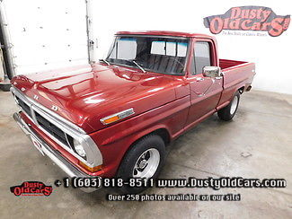 1971 Ford F-100 Runs Drives Excel Body Interior VGood Road Ready