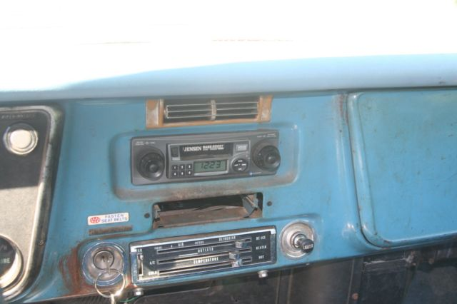 1971 MEDIUM BLUE Chevrolet C-10 FLEETSIDE with MEDIUM BLUE interior