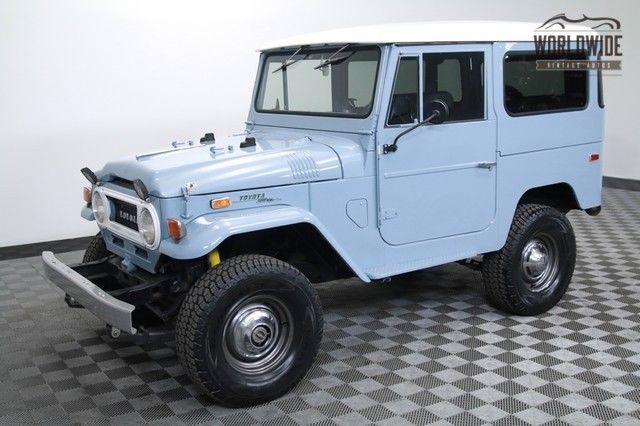 1971 Toyota Land Cruiser FJ40 4BT CRATE ENGINE 5 SPEED FRAME OFF!