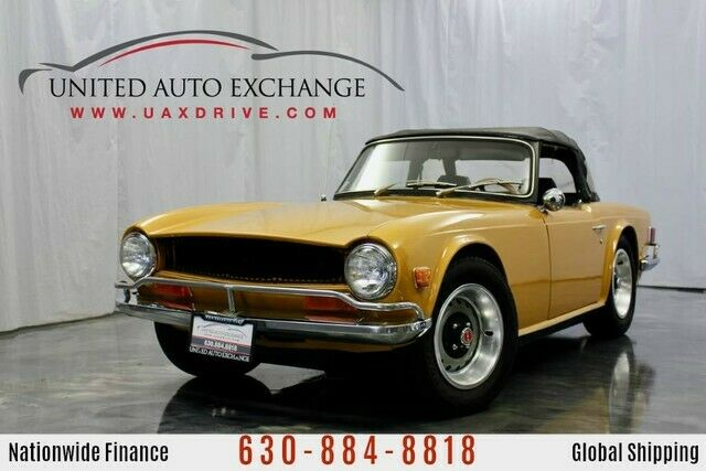 1971 Triumph TR6 Carbureted Straight V6 Engine 4 Speed Manual Trans 41480 Miles