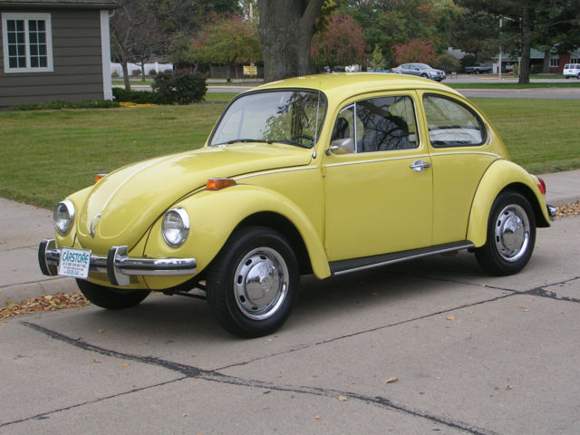1971 volkswagen classic super beetle fun fun fun yellow with super nice body for sale photos. Black Bedroom Furniture Sets. Home Design Ideas