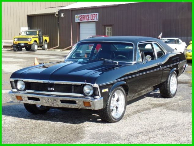 1972 Chevrolet Nova BLACK ON BLACK-GREAT DRIVER-SEE VIDEO
