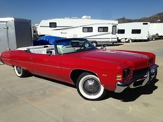 1972 california chevrolet 2 door red impala convertible in very good condition for sale photos. Black Bedroom Furniture Sets. Home Design Ideas