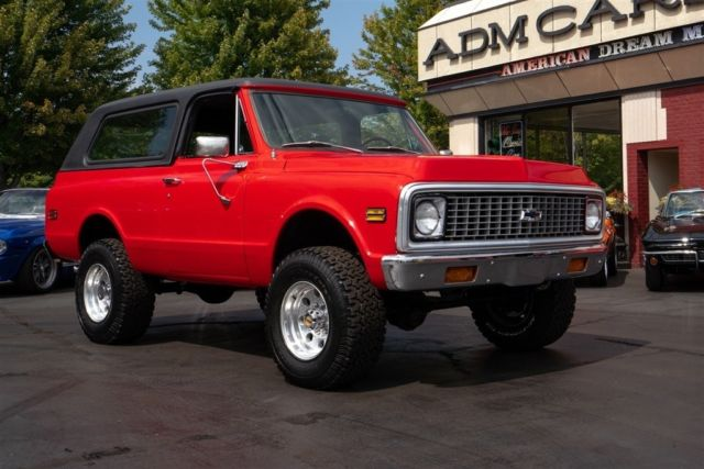 1972 Chevrolet Blazer 4x4 Red Black Interior Removable Hard Top Suv