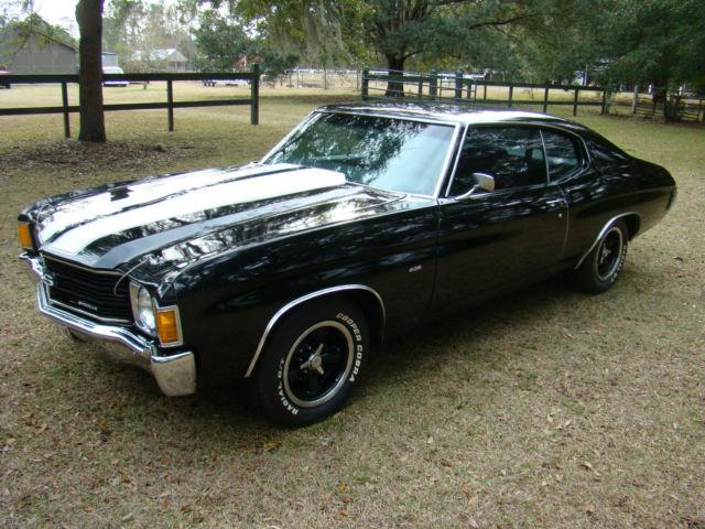 1972 Chevrolet Chevelle Malibu Ss 454 Bucket Seats Posi