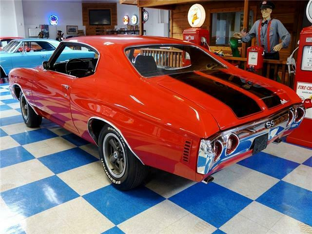 1972 Red Chevrolet Chevelle 402 Cui / Automatic Trans -- with Black interior