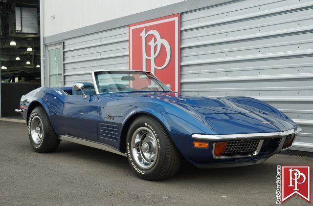 1972 Chevrolet Corvette Stingray Convertible Targa Blue Metallic