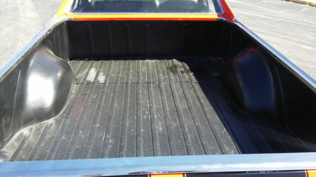 1972 Chevrolet El Camino Hotrod Orange W Black Racing