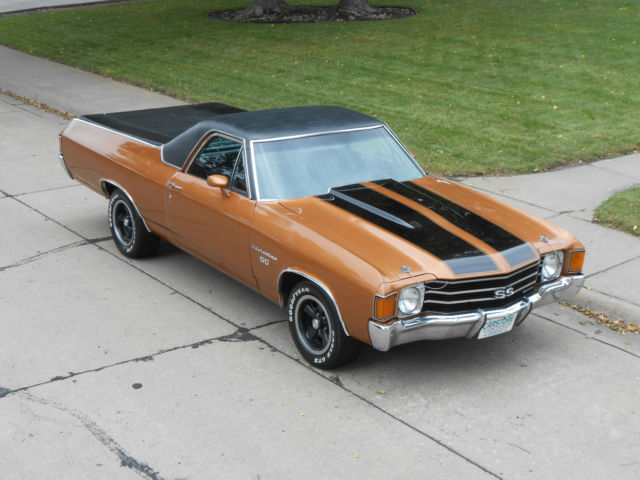 1972 chevrolet el camino real deal ss w original retail. Black Bedroom Furniture Sets. Home Design Ideas