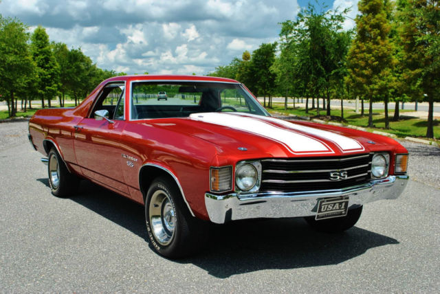 1972 Chevrolet El Camino SS 454 V8 Big Block Runs and Drives Excellent!