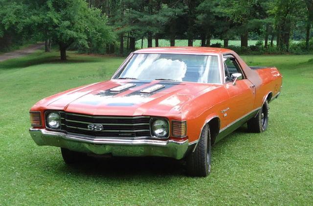 1972 Chevy Chevrolet 2 Door El Camino Vintage Classic Muscle Car