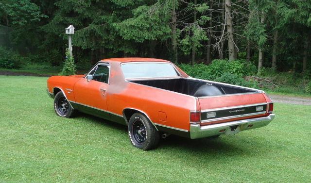 Chevy Chevrolet Door El Camino Vintage Classic Muscle Car