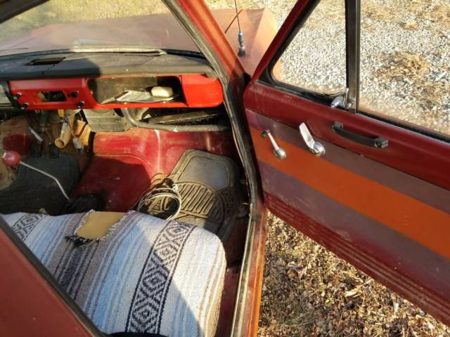 1972 Brown Datsun Pickup Standard Cab Pickup with Burgundy interior