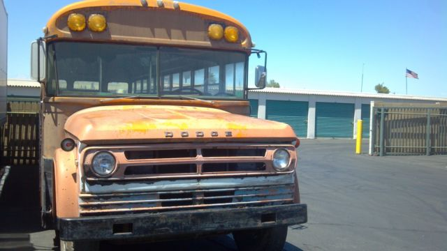 1972 DODGE 600 School Bus Big Block 361 engine SWEPTLINE