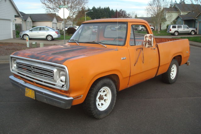 1972 Dodge Other Pickups Short Box