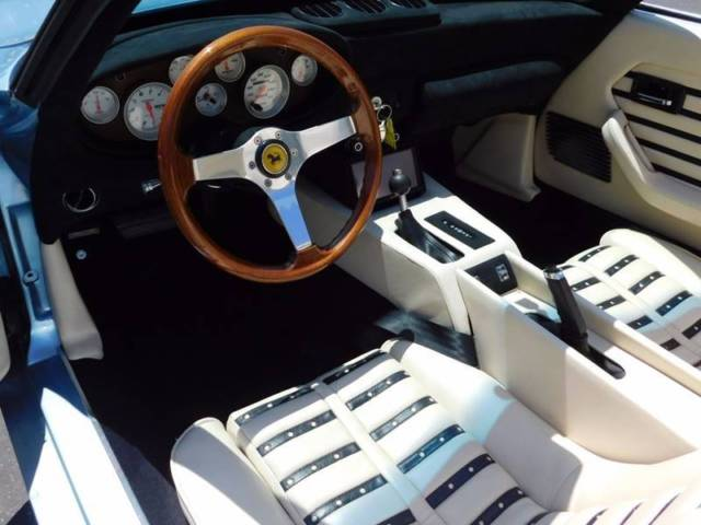 1972 Fly Yellow Ferrari 365 GTB Convertible with Tan interior